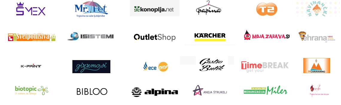 Logoti tekmovalcev Spletni trgovec leta 2018